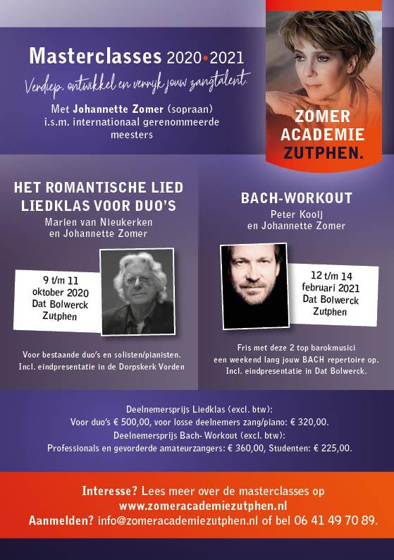 Masterclasses Johannette Zomer 2020 2021